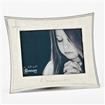 3.5x5 White Enameled Photo Frame - First Communion