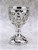 Cake Topper - Silver Plated Resin Chalice