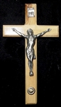 "Crucifix - 5"" with Small Stone"