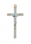 Blue Epoxy Crucifix - 5.5""