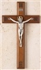 "Crucifix - 11"" Walnut Laser with Engraved IHS"