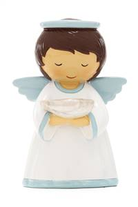 Statue Baptism Angel Blue
