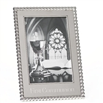 4x6 Silver First Communion Frame - 8""
