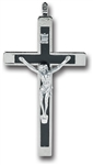 "Crucifix - 3.5"" Black with Inlay"