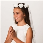 "First Communion Veil ""Emily"" - 30"""