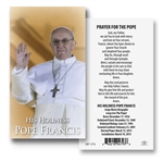 Paper Holy Card - Pope Francis
