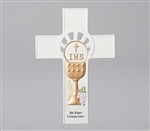 "First Communion Wall Cross - 8.25"" (With Chalice)"