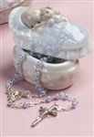 Baby Rosary with Porcelain Box (Boy)