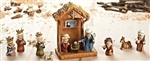 "Nativity Set: 11-piece Stable & Nativity Pageant (8"")"