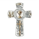 "First Communion Wall Cross - 8"" (With Chalice)"