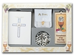 First Communion Gift Set 6-pc Girl Blessed Trinity Missal  Edition