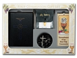 First Communion Gift Set 6-pc Boy Blessed Trinity Missal Edition