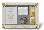 First Communion Gift Set 6-pc Girl Blessed Trinity Missal Deluxe Edition