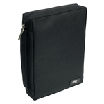 Bible Cover - Black Medium Value Poly-Canvas