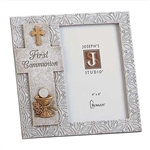 4x6 Gray Photo Frame (with Chalice and Cross) - First Communion