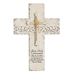 "First Communion Wall Cross - 9.25"" Stone Finish"
