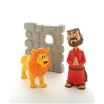 Action Figure Set- Daniel and the Lions Den - 3""