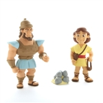 Action Figure Set - David and Goliath - 3""