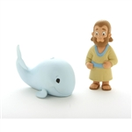 Action Figure Set- Jonah and the Big Fish - 3""