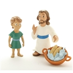 Action Figure Set - Jesus Feeds Five Thousand - 3""
