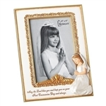 "First Communion Girl Picture Frame - 8"" (4x6)"