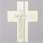 "First Communion Wall Cross - 7.5"" (With Rhinestones)"