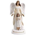 "8"" Angel with Girl Statue - First Communion"