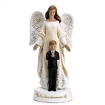 "8"" Angel with Boy Statue - First Communion"