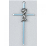 "Cross - 6"" Praying Boy (Blue Inlay)"