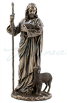 Jesus the Good Shepherd Bronze 11.5-in
