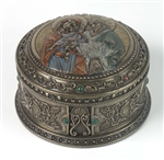 Holy Family Round Trinket Box