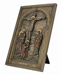 Crucifixion - Iconic Style Wall Plaque with Stand