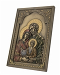Holy Family - Iconic Style Wall Plaque with Stand