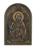Saint Francis with Dove - Iconic Style Wall Plaque with Stand