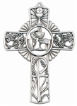 "First Communion Cross - 5"" Pewter (Host and Chalice)"