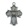 Pendant Pewter Antique Silver Four-Way 18-in Chain