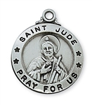 Pendant Pewter Antique Silver St. Jude 20-in Chain