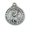 Pendant Pewter Antique Silver St. Christopher 20-in Chain