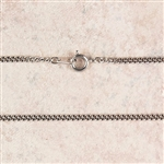 Chain 24-in Rhodium Plate Medium with clasp