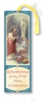 First Communion Laminated Bookmark (Girl)