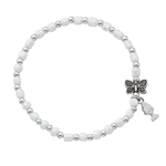 First Communion Bracelet with Butterly