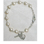 BRACELET DELUXE YOUTH PEARL HEART