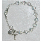 Bracelet Pewter Youth Crystal Heart