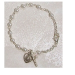 Bracelet Pewter 3mm Youth Pearl