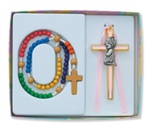 Baby Set Girl Cross w/ Rosary