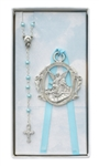 Gift Set Crib Medal & Rosary Blue Boy