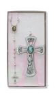 Baby Cross & Rosary Set Girl