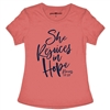 She Rejoices in Hope Adult T-Shirt