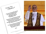Paper Holy Card Pope Francis Giving Blessing