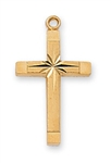 "Pendant Gold over Sterling Silver English Cross 18"" Chain"